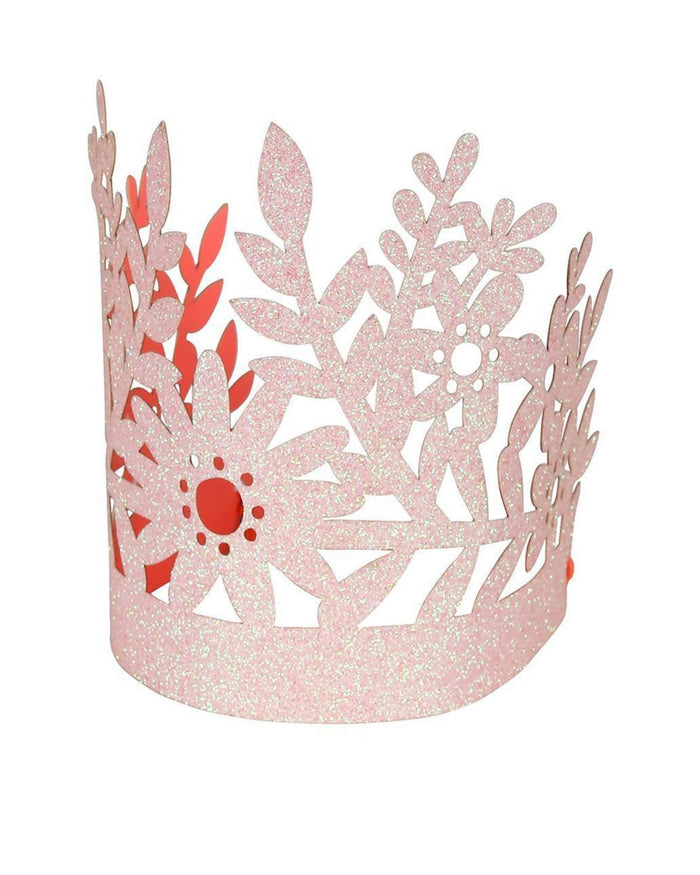 Little meri meri paper+party pink glitter crowns