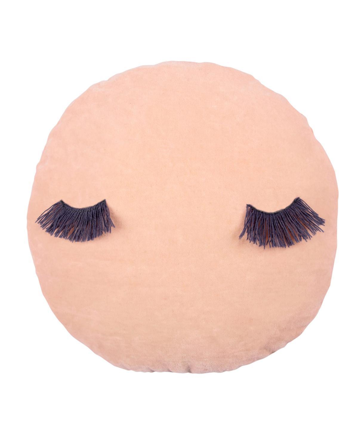 Little meri meri room pink velvet wink cushion