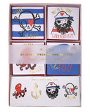 Little meri meri paper+party pirate tattoo valentine card set