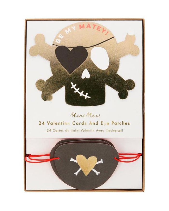 Little meri meri paper+party pirate valentines love notes