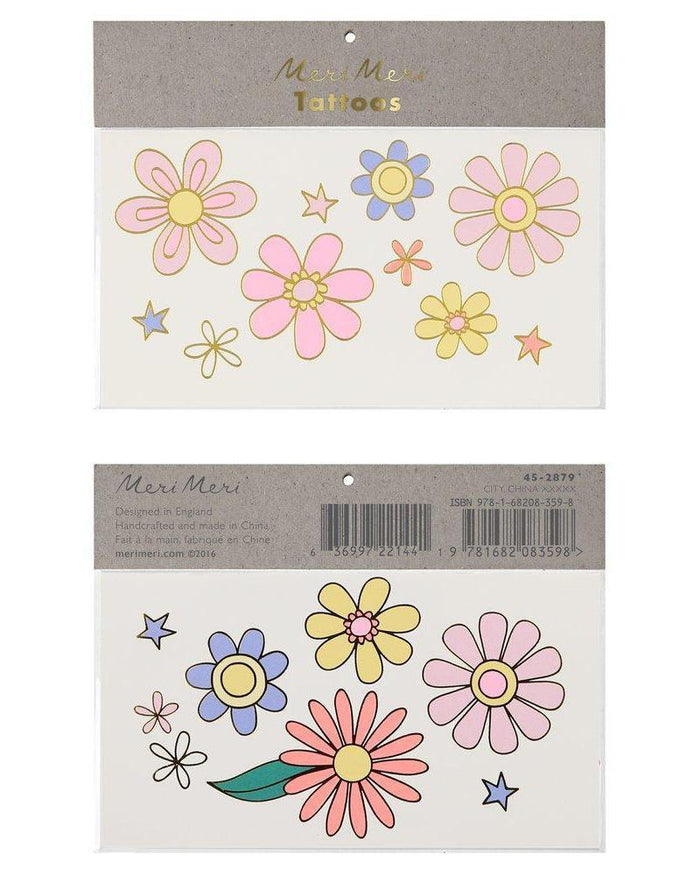 Little meri meri paper+party psychedelic 60's large tattoos