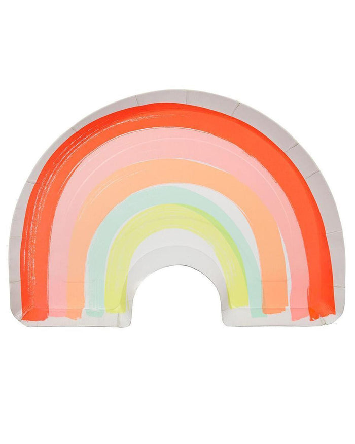 Little meri meri paper+party rainbow dinner plate