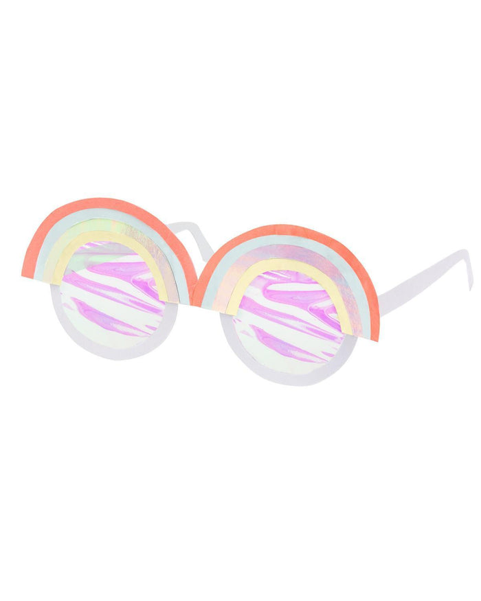 Little meri meri paper+party rainbow party glasses