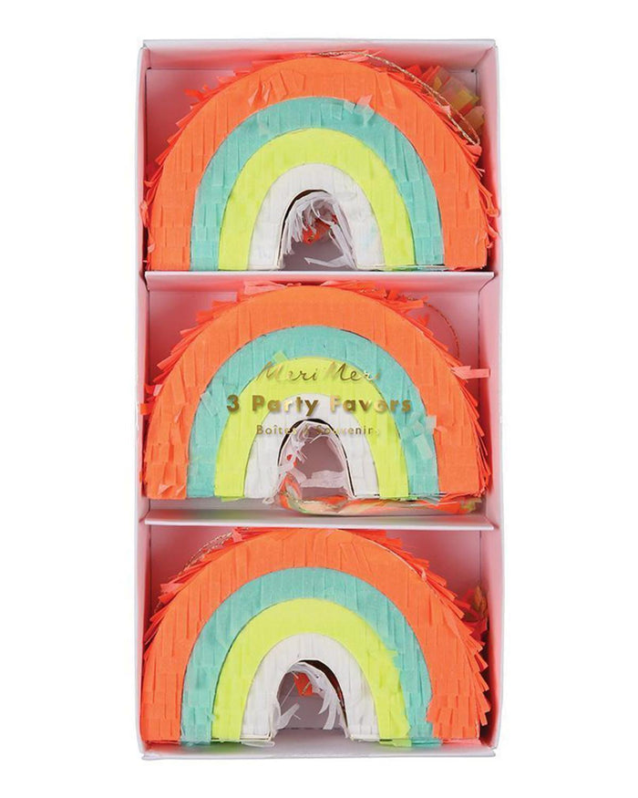 Little meri meri paper+party rainbow piñata party favors