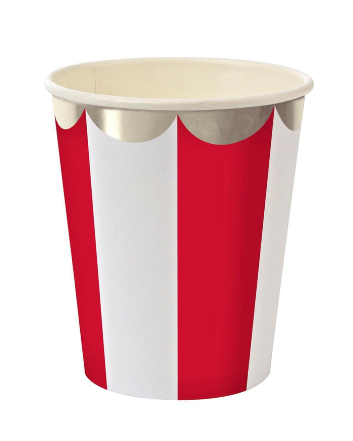 Little meri meri paper+party Red Striped Party Paper Cups