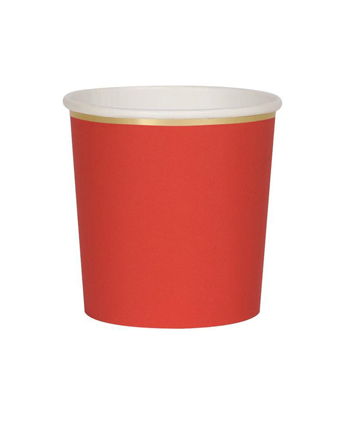 Little meri meri paper+party red tumbler cups