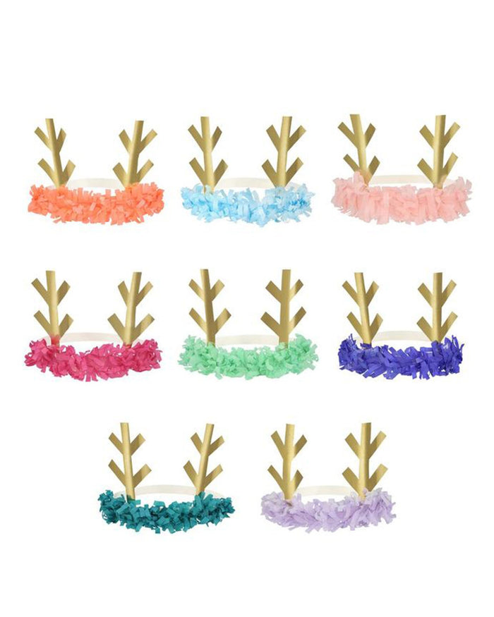Little meri meri paper+party reindeer fringe antler headbands