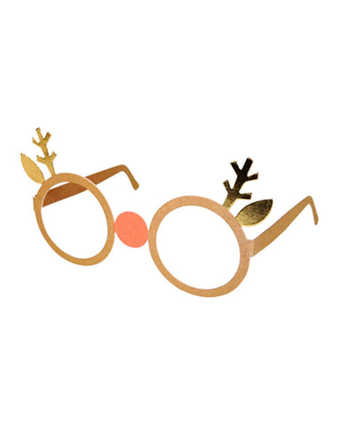 Little meri meri paper+party reindeer paper glasses
