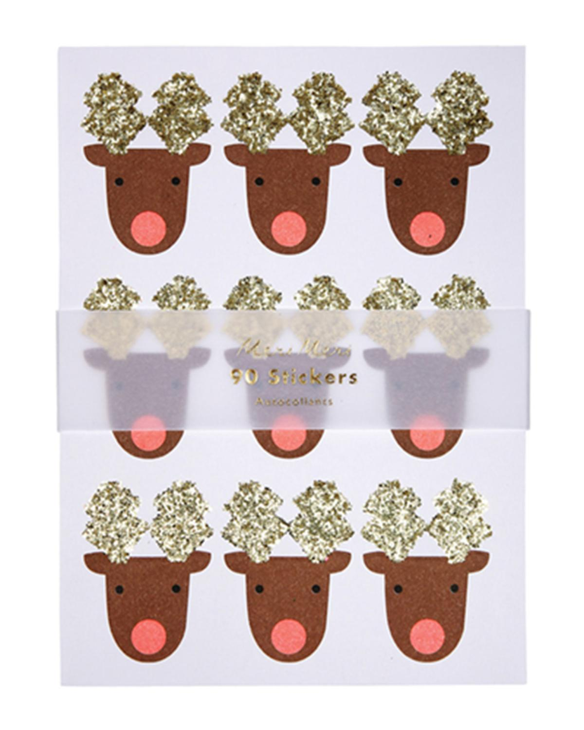 Little meri meri paper+party reindeer sticker sheets