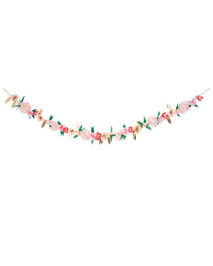 Little meri meri paper+party rose blossom garland