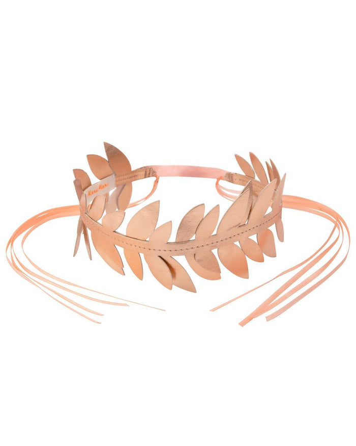 Little meri meri play rose gold laurel wreath crown