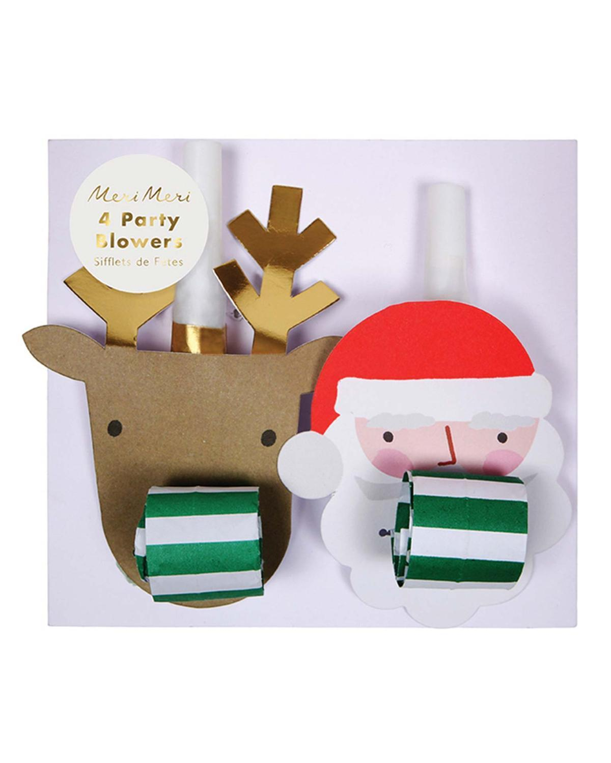 Little meri meri paper+party Santa + Reindeer Blowers