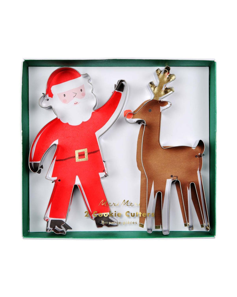 Little meri meri paper+party Santa + Reindeer Cookie Cutters