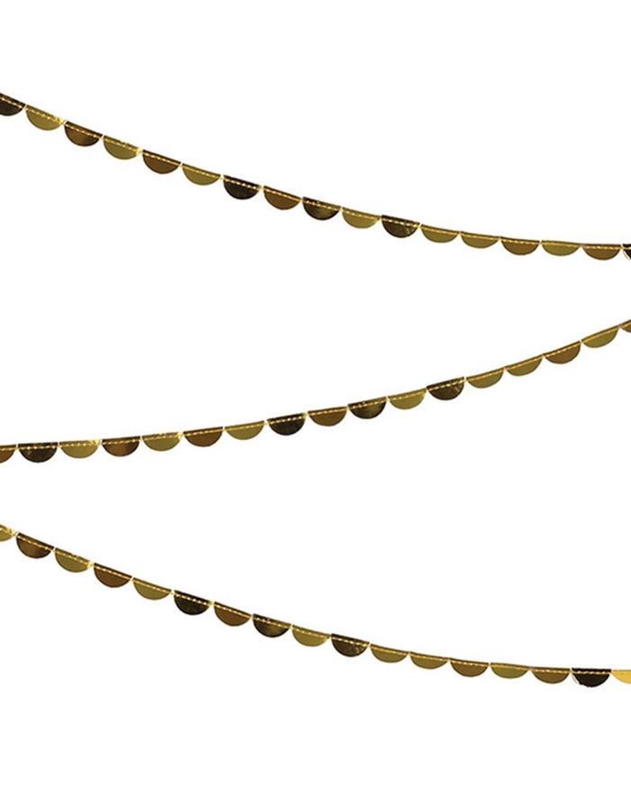 Little meri meri paper+party Scallop Spool Garland in Gold