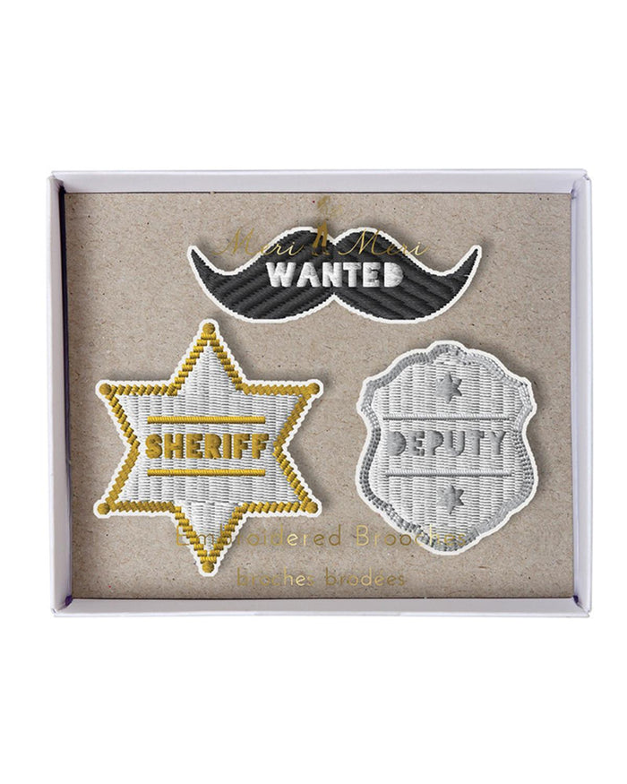 Little meri meri accessories Sheriff Brooches