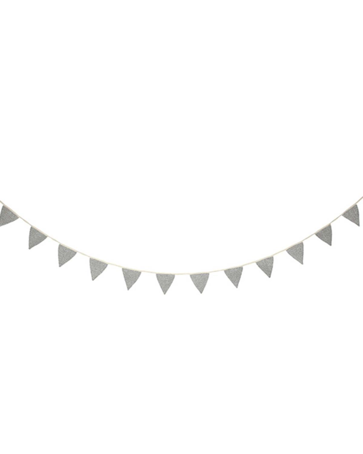 Little meri meri paper+party Silver Knit Bunting