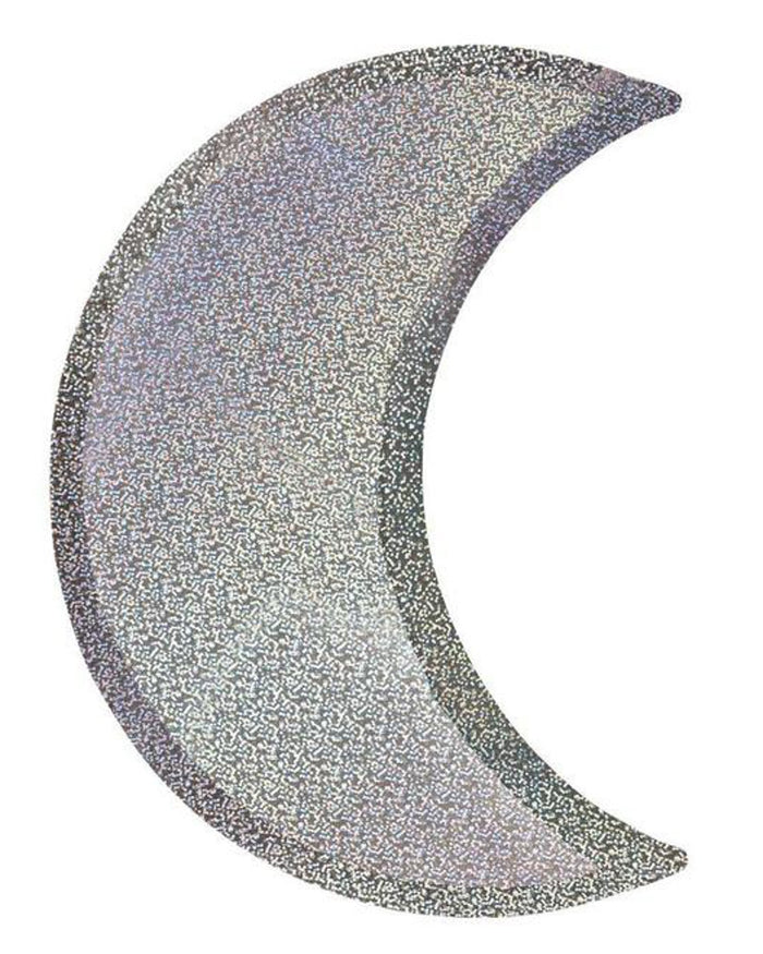 Little meri meri paper+party silver sparkle moon plates