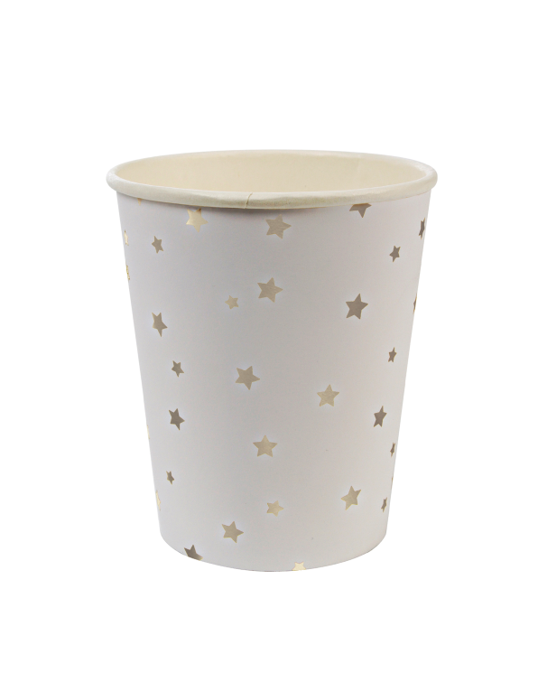 Little meri meri paper+party Silver Star Party Cups