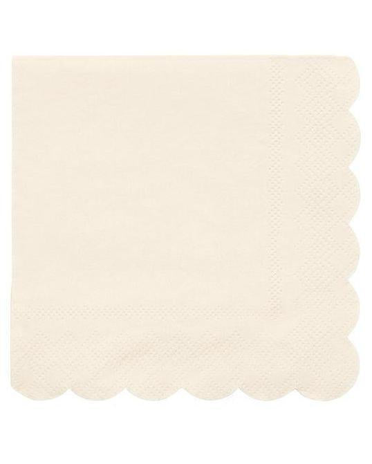 Little meri meri paper+party simply eco small napkins in cream