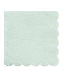 Little meri meri paper+party simply eco small napkins in mint