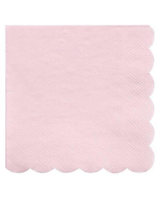 Little meri meri paper+party simply eco small napkins in pink
