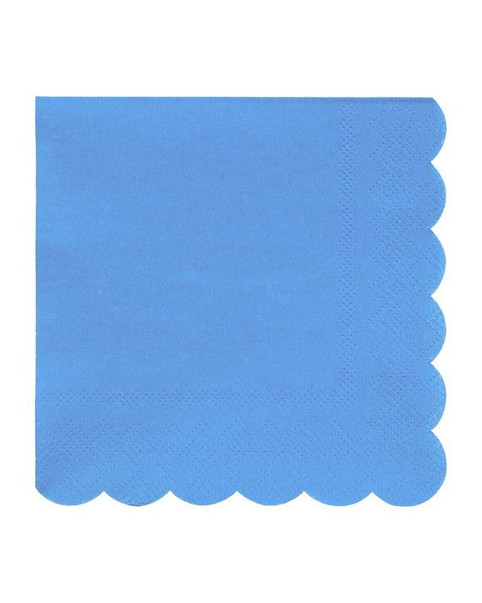 Little meri meri paper+party small blue napkins