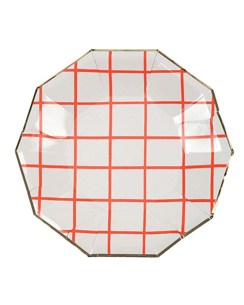 Little meri meri paper+party Small Coral Grid Plates