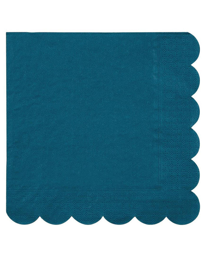 Little meri meri paper+party small dark teal napkins