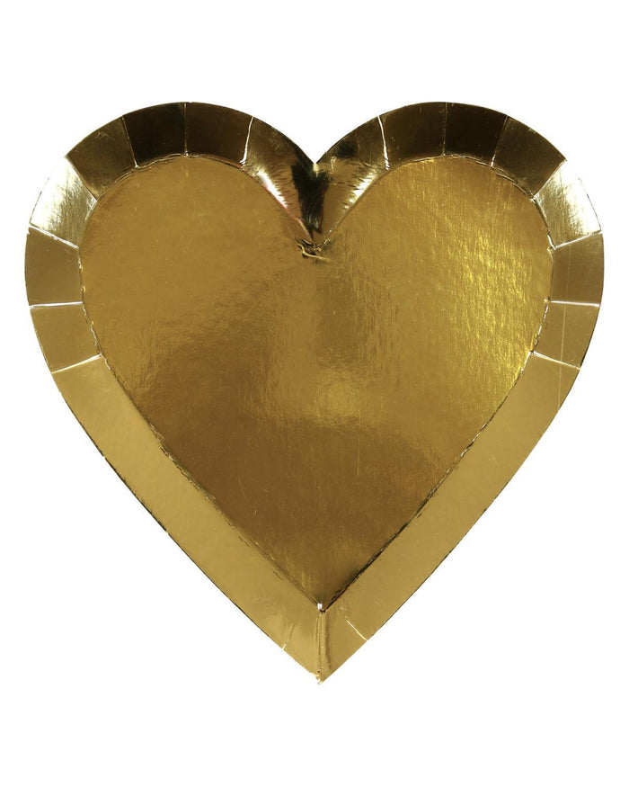 Little meri meri paper+party small gold heart plate