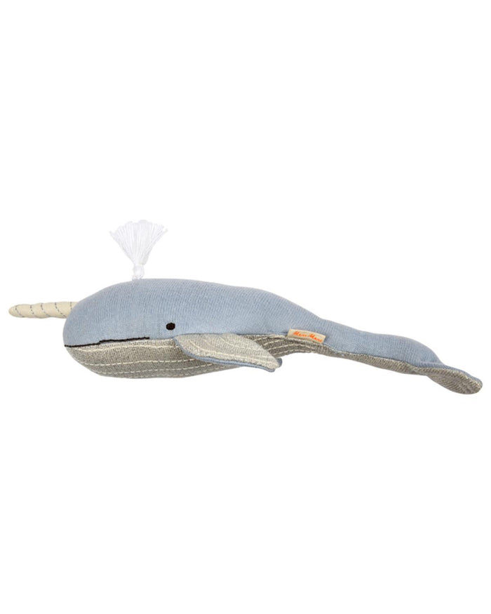 Little meri meri play small knit narwhal