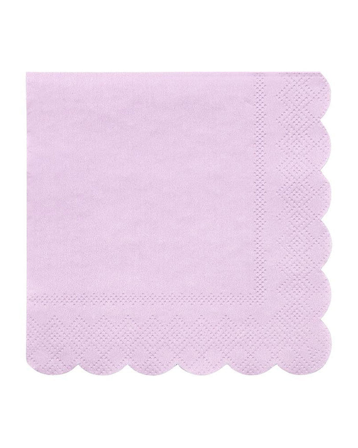 Little meri meri paper+party small lilac napkins