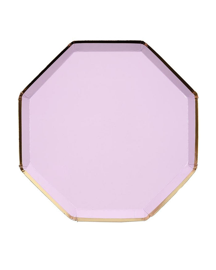 Little meri meri paper+party small lilac octagonal plate