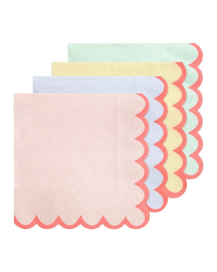 Little meri meri paper+party small pastel napkins