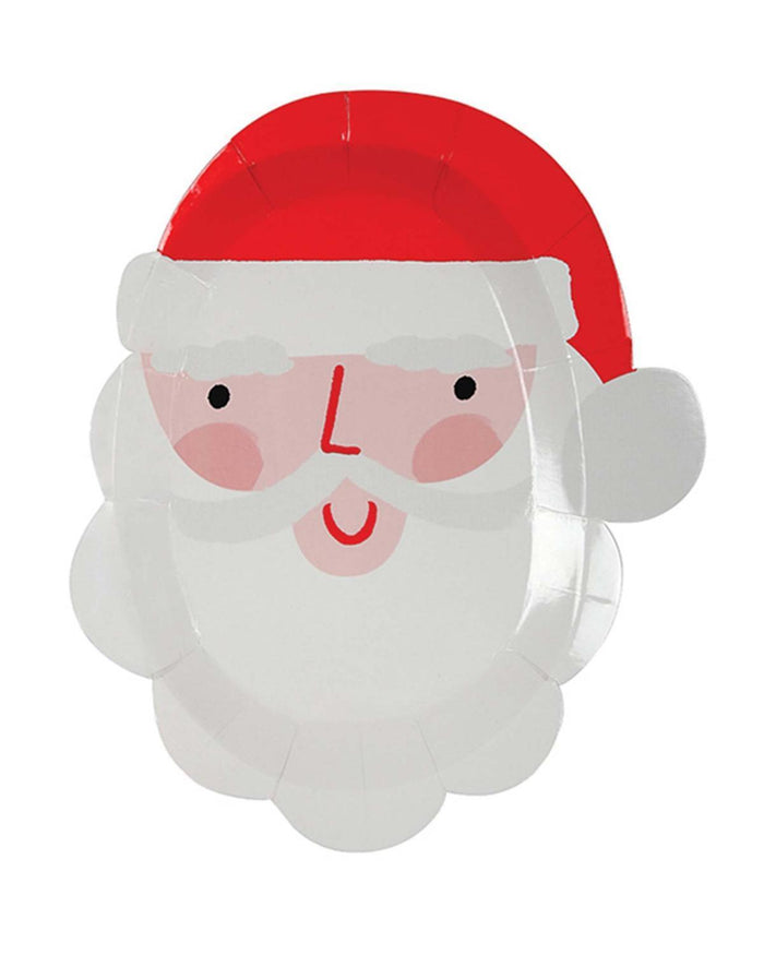 Little meri meri paper+party Small Santa Plate