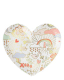 Little meri meri paper+party small valentine doodle plates