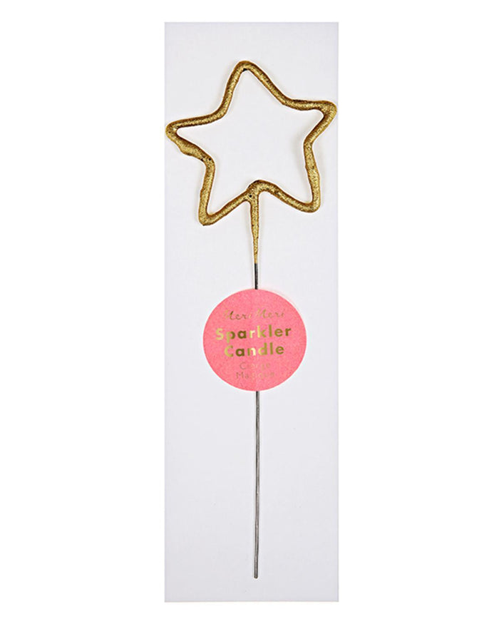 Little meri meri paper+party star sparkler in gold