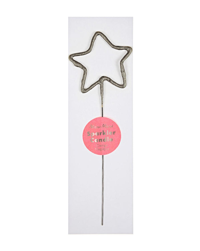 Little meri meri paper+party star sparkler in silver