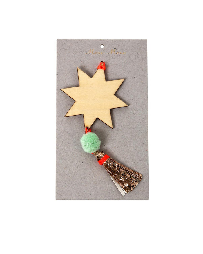 Little meri meri room Star + Tassel Ornament