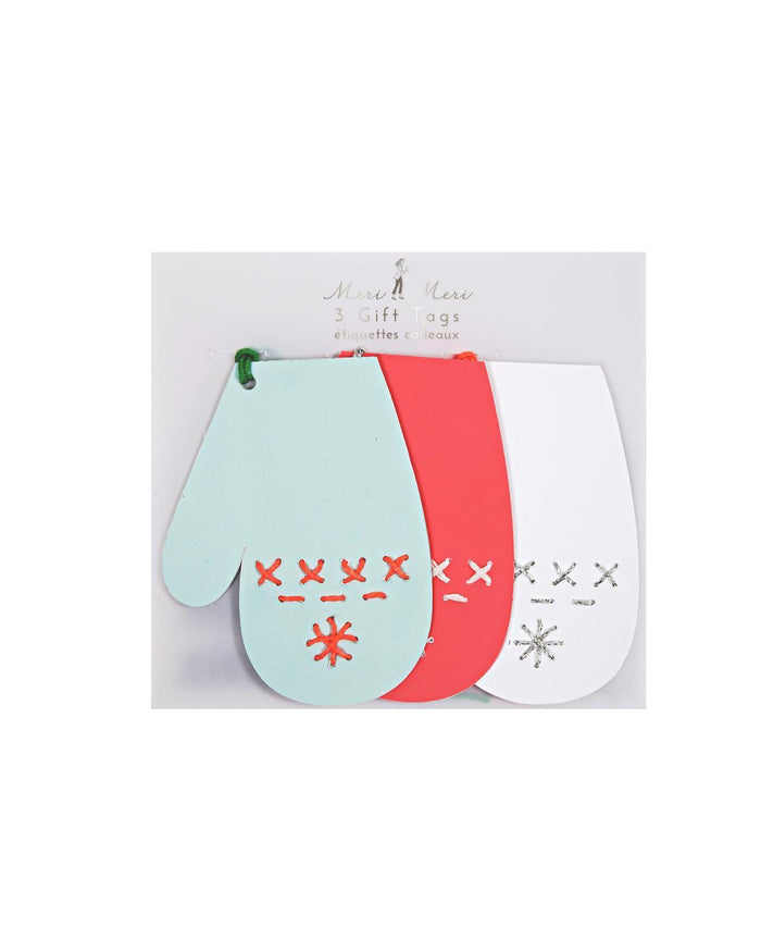 Little meri meri paper+party Stitched Mitten Gift Tags