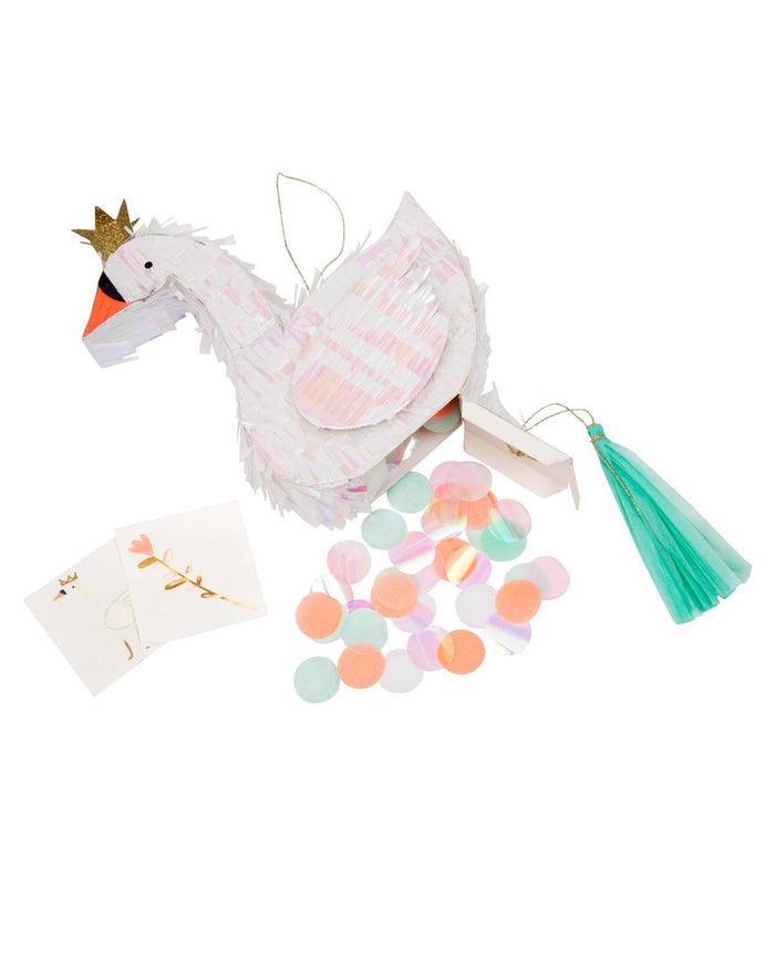 Little meri meri paper+party swan piñata party favors