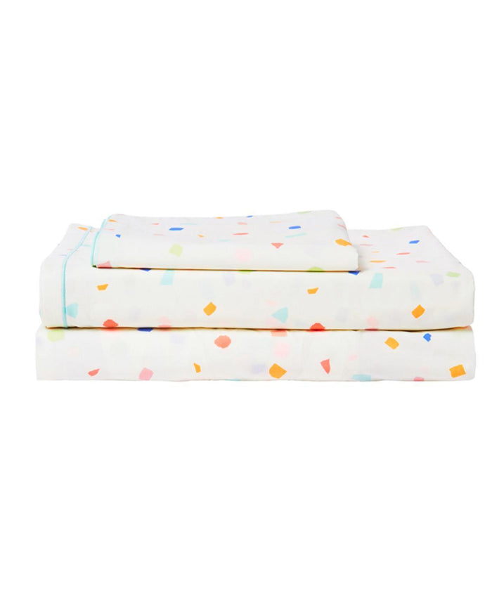 Little meri meri room terrazzo twin sheet set