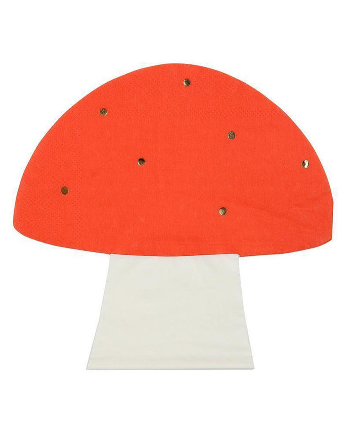 Little meri meri paper+party toadstool napkins