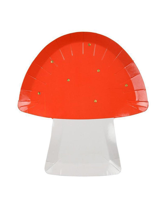 Little meri meri paper+party toadstool plate