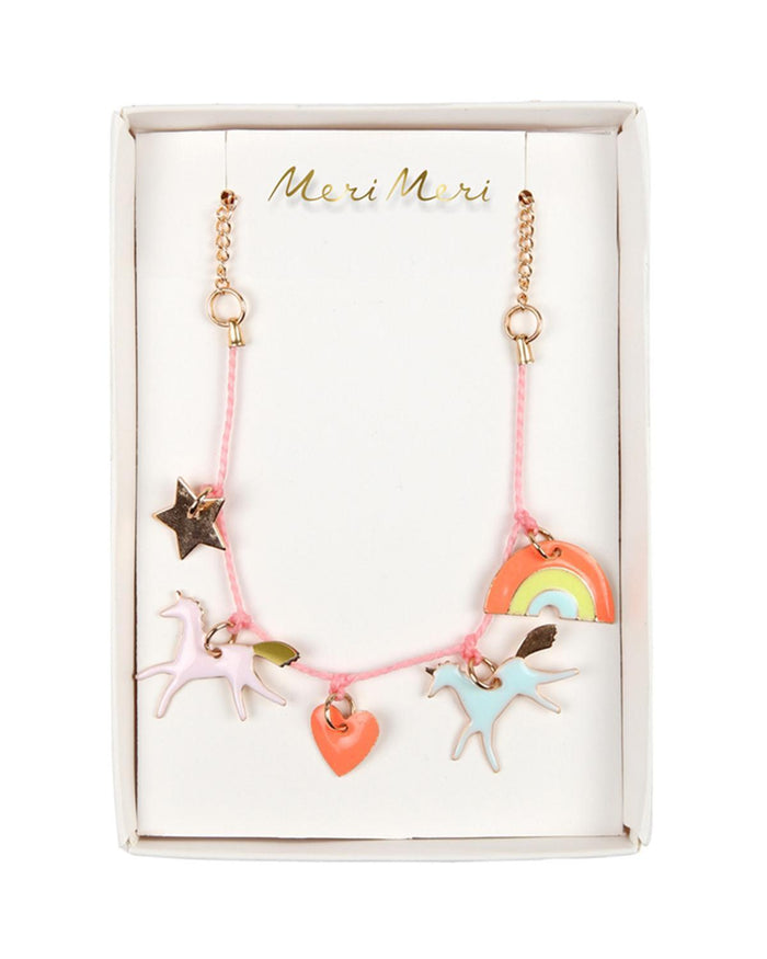 Little meri meri accessories unicorn charm necklace