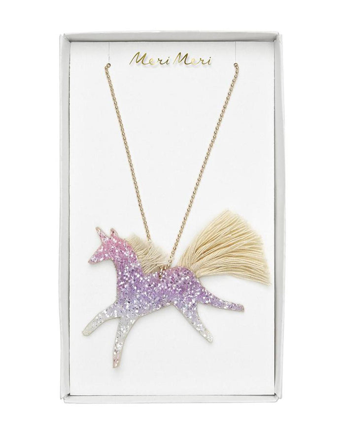 Little meri meri accessories unicorn glittered necklace