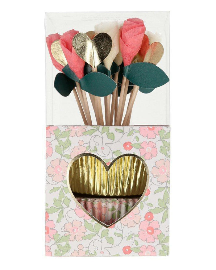 Little meri meri paper+party valentines cupcake kit