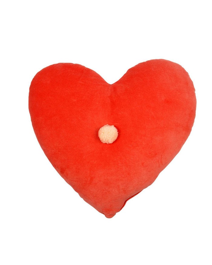 Little meri meri room velvet heart cushion in coral