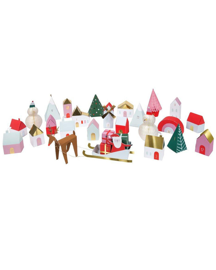 Little meri meri paper+party village advent calendar