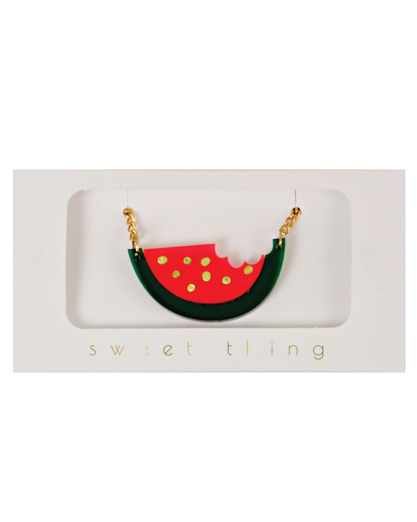 Little meri meri accessories Watermelon Necklace
