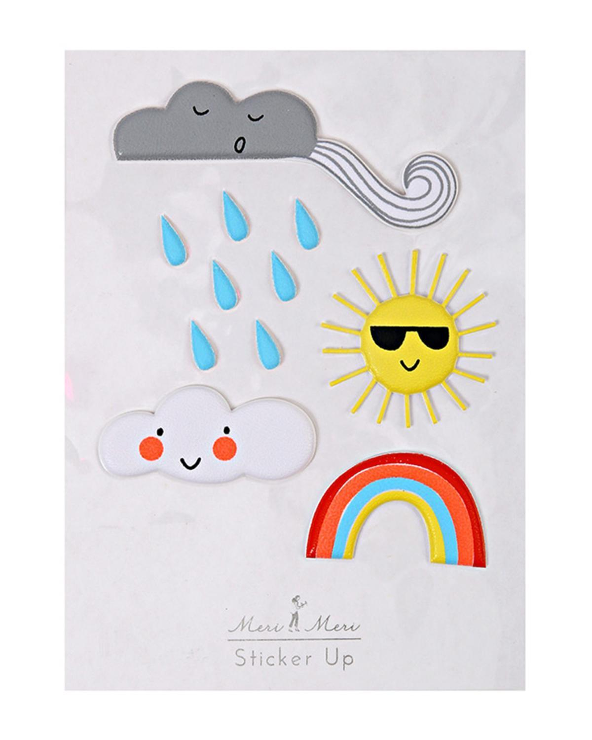 Little meri meri paper+party Weather Stickers